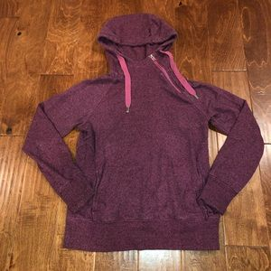 Red/pink North Face Hoodie with cowl neck Sz M